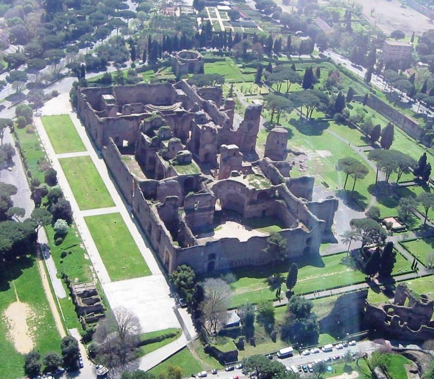 Terme di Caracalla - vista dall'alto