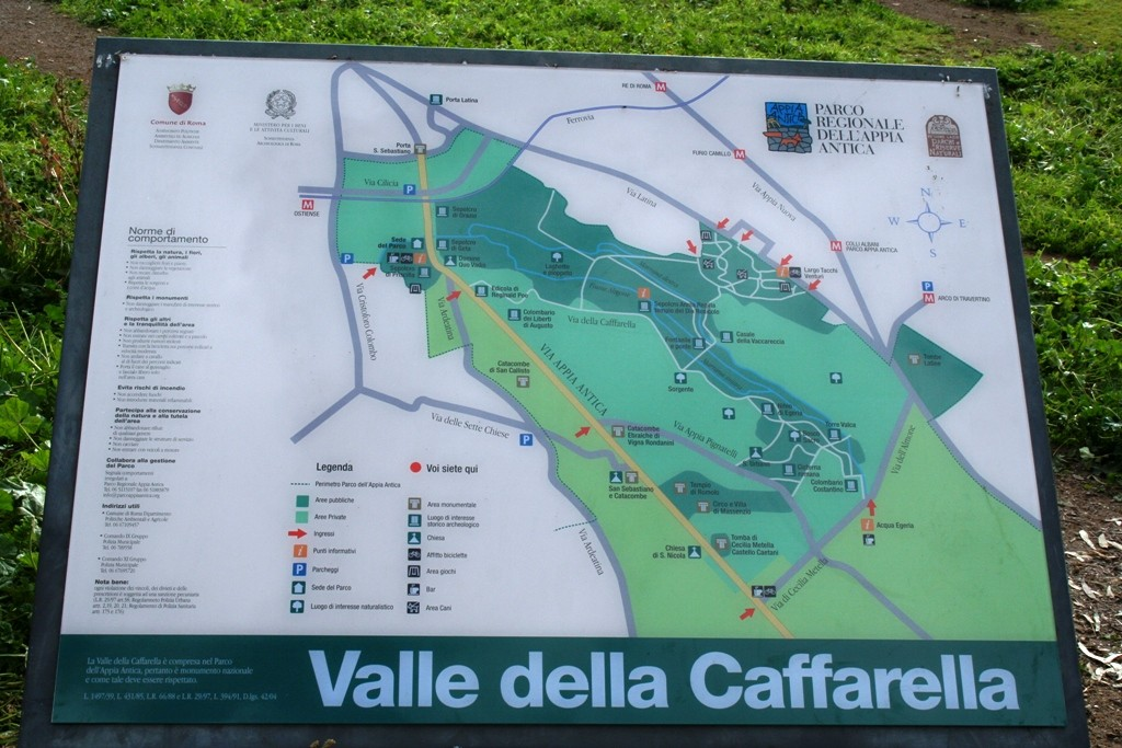 Caffarella - pianta