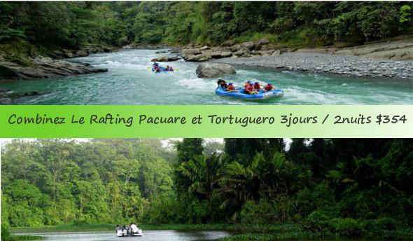 Formule Rafting Pacuare + Tortuguero