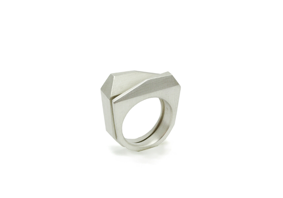 """""""Facets of Life"""" Twin Rings - Sterling silver"""