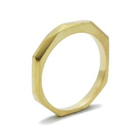 Facettierte Ring, 750er Gelbgold