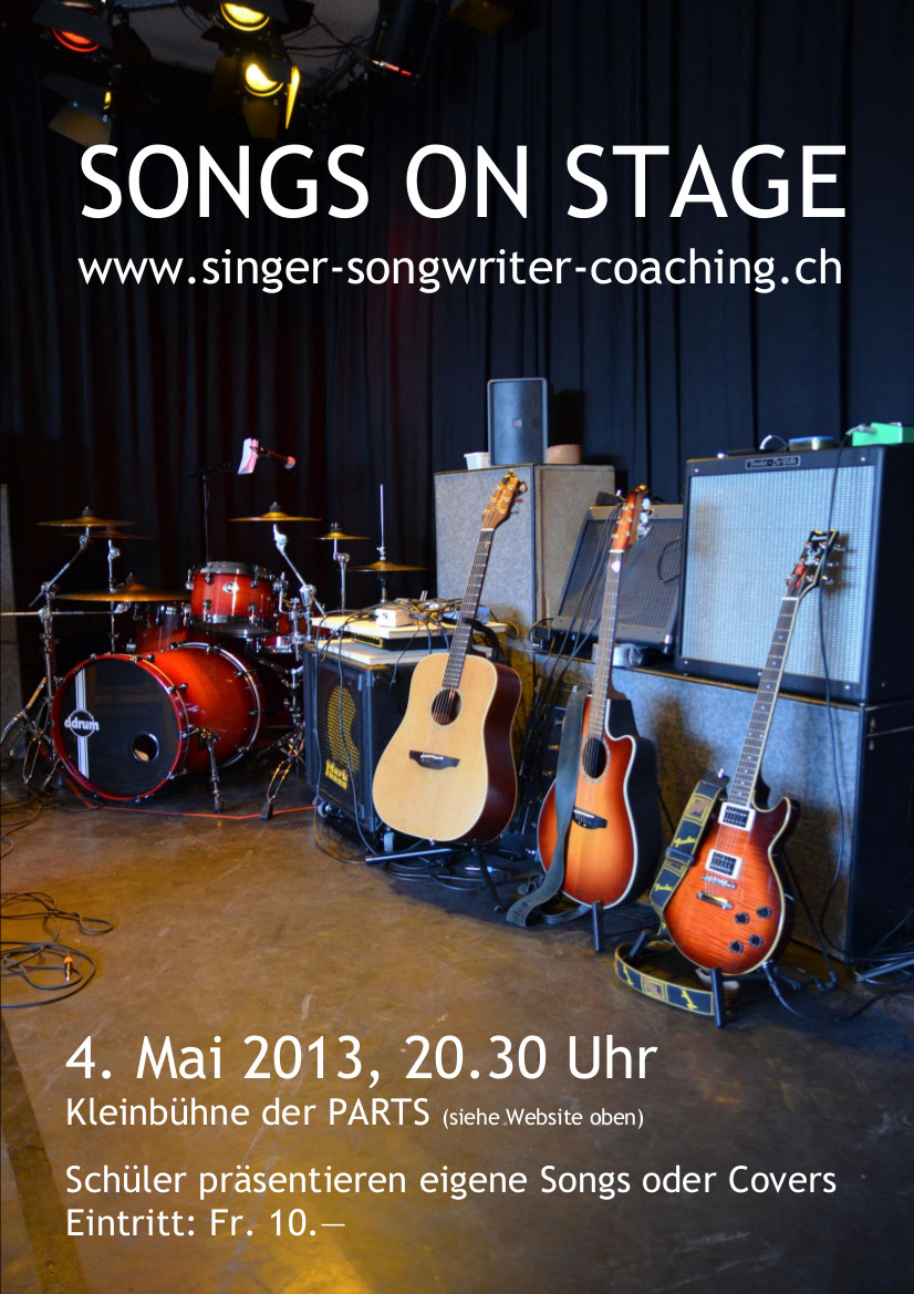 2013 KONZERT - SONGS ON STAGE