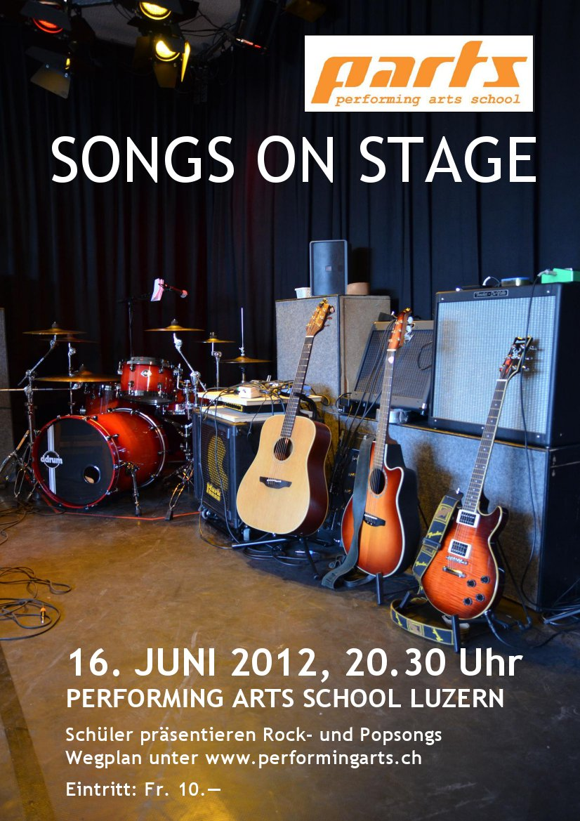 2012 KONZERT - SONGS ON STAGE