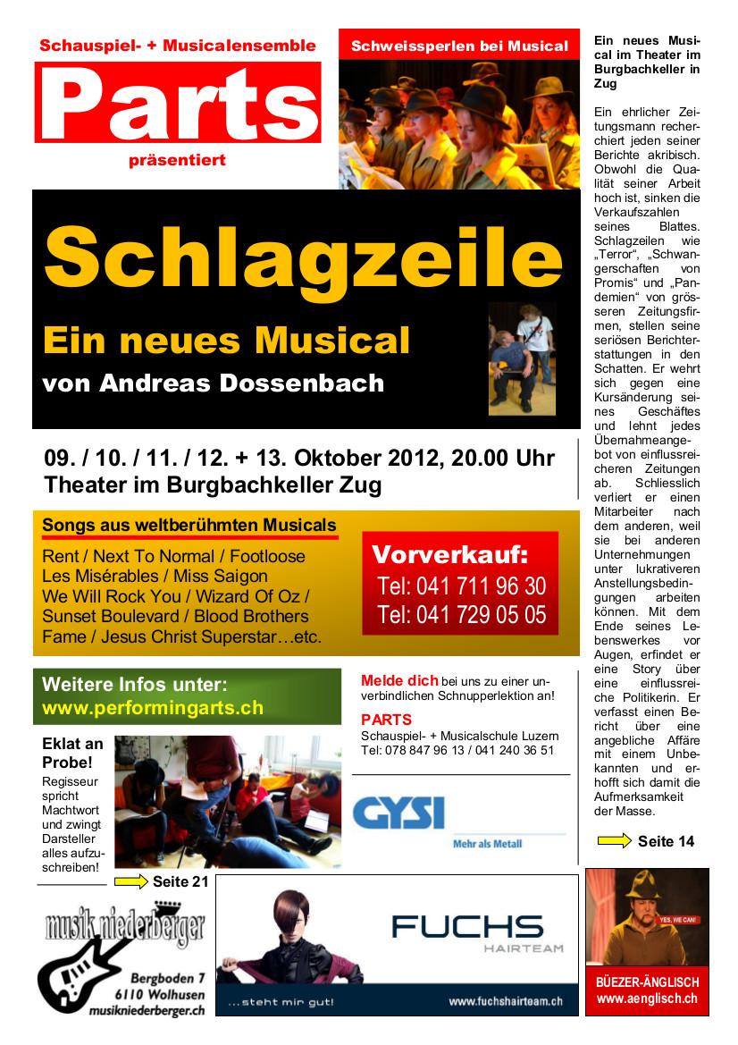 2012 MUSICAL SCHLAGZEILE
