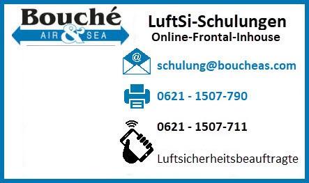 Visitenkarte Tamara Schäfer: Koordinatorin AEO & bV SchulungsCenter für Luftsicherheit & sichere Lieferkette (ONLINE-Schulung, FRONTAL-Schulung), Bouché Air & Sea GmbH
