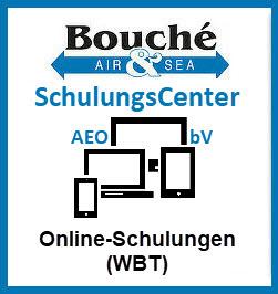 Logo ONLINE-Schulungen (WBT) LuftSi für bekannte Versender, reglementierte Beauftragte, zugelassene Transporteure, reglementierte Lieferanten: SchulungsCenter AEO & bV der Bouché Air & Sea GmbH
