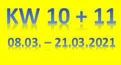 6. Wochenbericht 2021 (08.03. - 21.03.2021)