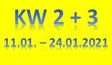 2. Wochenbericht 2021 (11.01. - 24.01.2021)