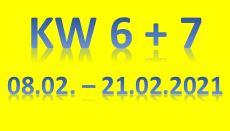 4. Wochenbericht 2021 (08.02. - 21.02.2021)