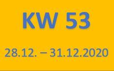 53. Wochenrückblick vom 28.12. - 31.12.2020