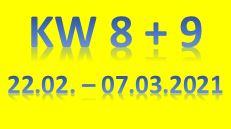 5. Wochenbericht 2021 (22.02. - 07.03.2021)