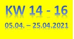 8. Wochenbericht 2021 (05.04. - 25.04.2021)
