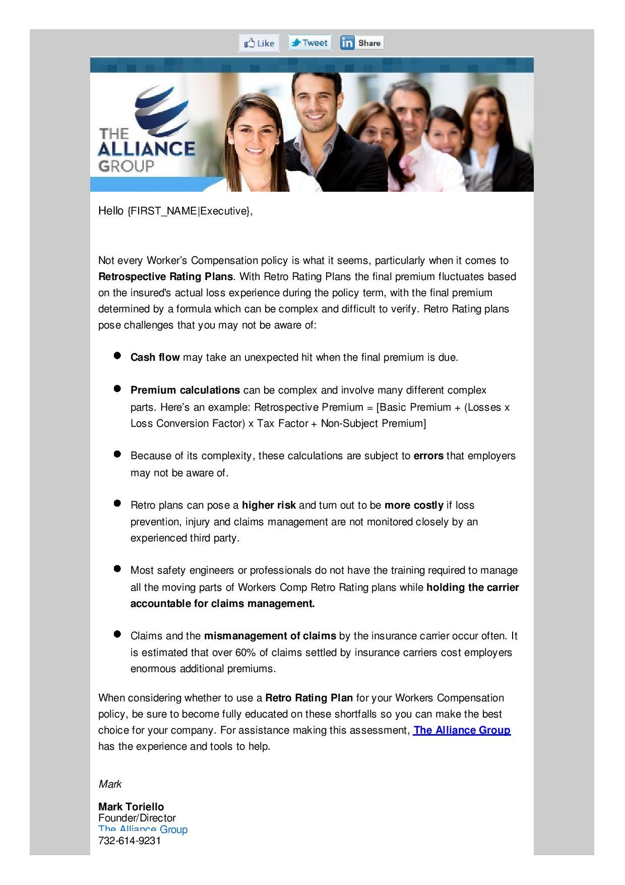 Insurance broker email