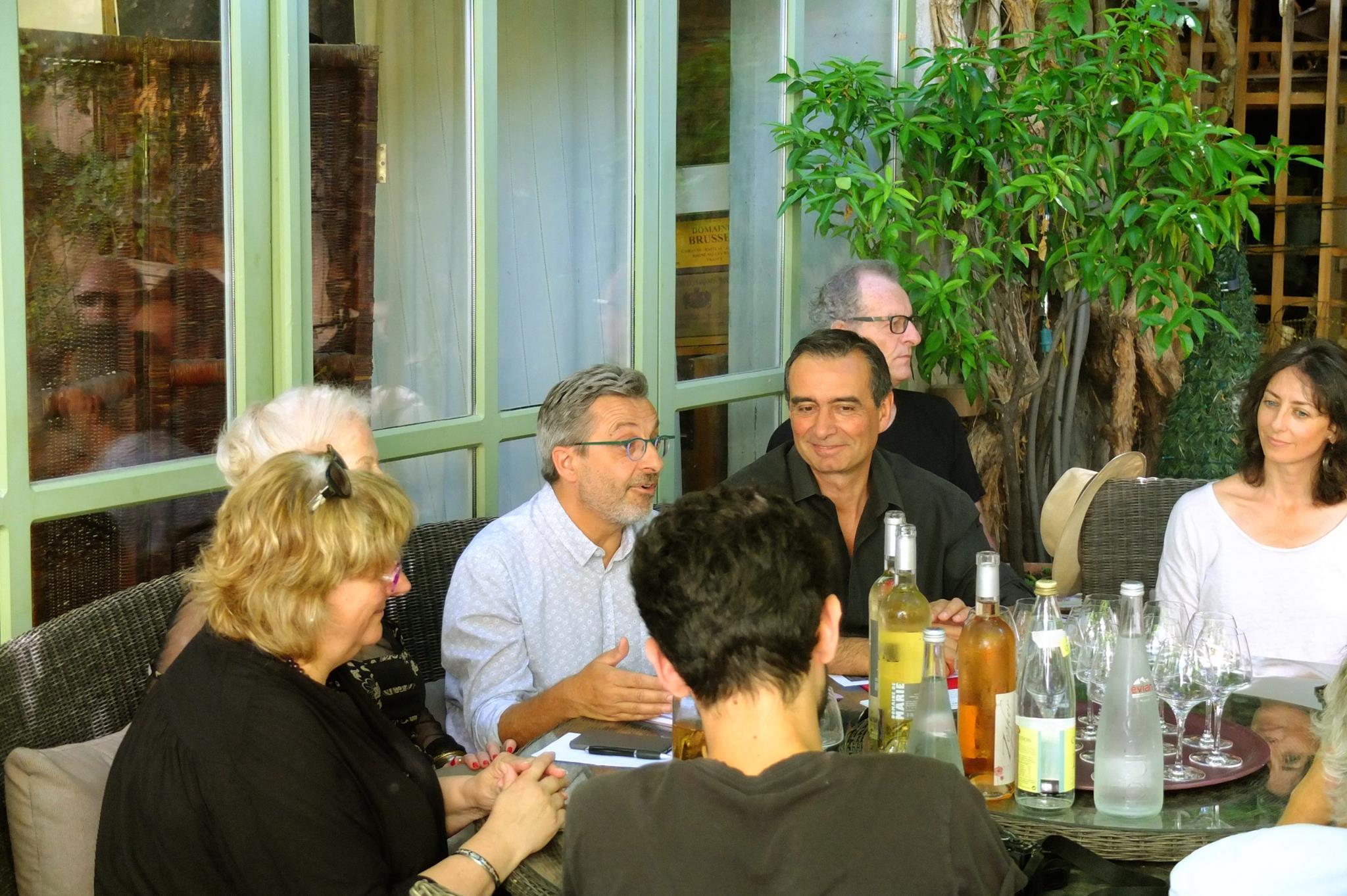 Conférence de presse à la Maison de Fogasses - 5 juillet  2017 (de gauche à droite : Laurence Lefèvre, Paule Tavera-Soria, Frédéric Tort, Robert Guillot, Stéphane Pellet, Natacha Liège)