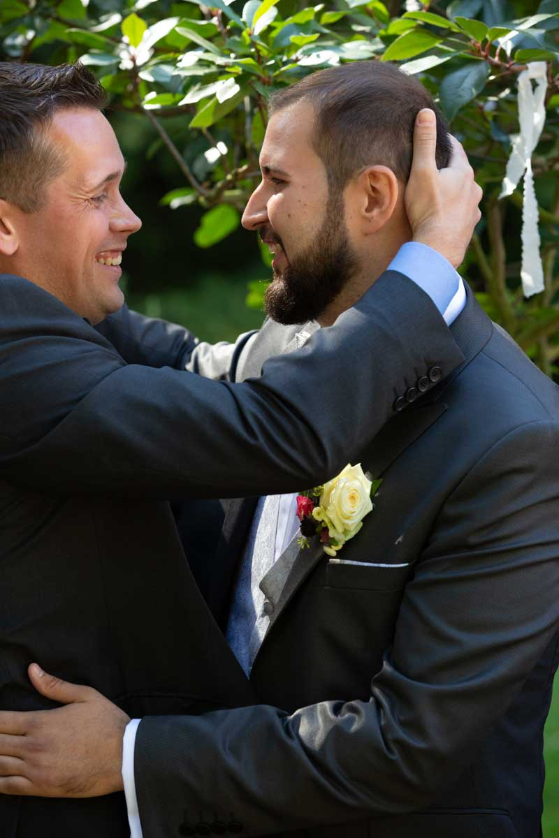 Hochzeit Glückwünsche der Gäste, Reportagefotos der Hochzeit