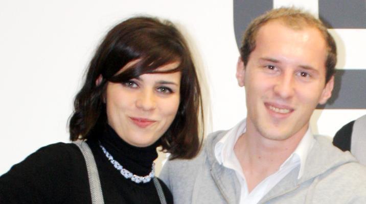 Dominik Kollmann mit Nora Tschirner
