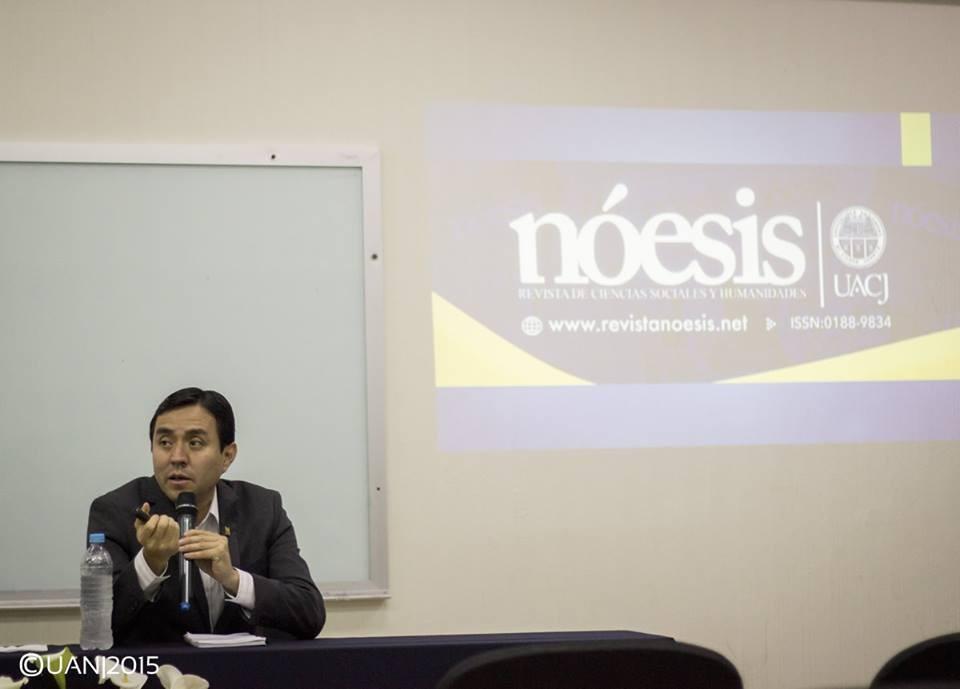 Presentación de Nóesis en la Universidad Autónoma de Nayarit, 2015.