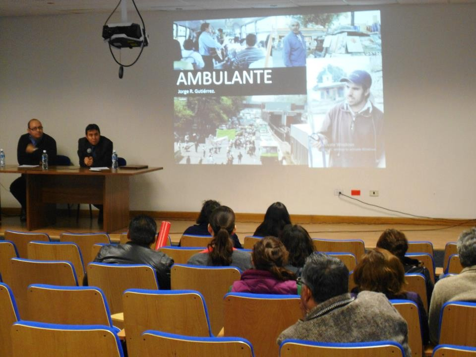"En la presentación del documental ""Ambulante"", UACJ-IADA 2013."