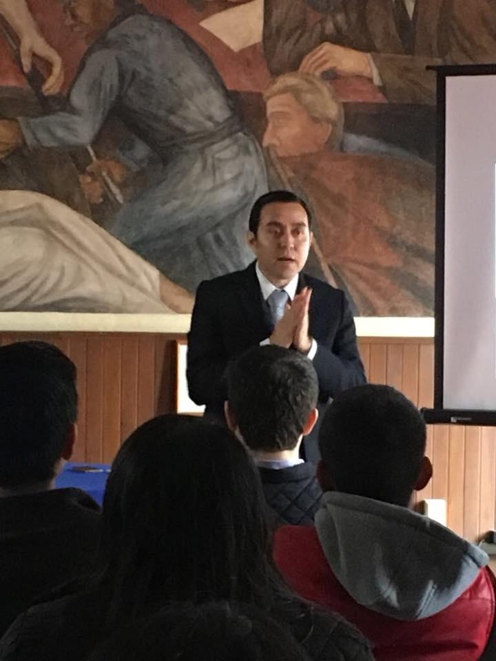 En la Universidad Veracruzana, febrero 2018.