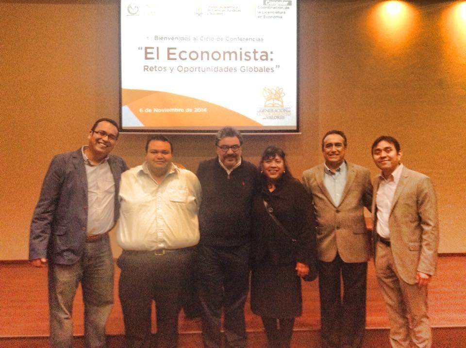 Presentación por el día del economista en la Universidad Autónoma de Tamaulipas, 2014.