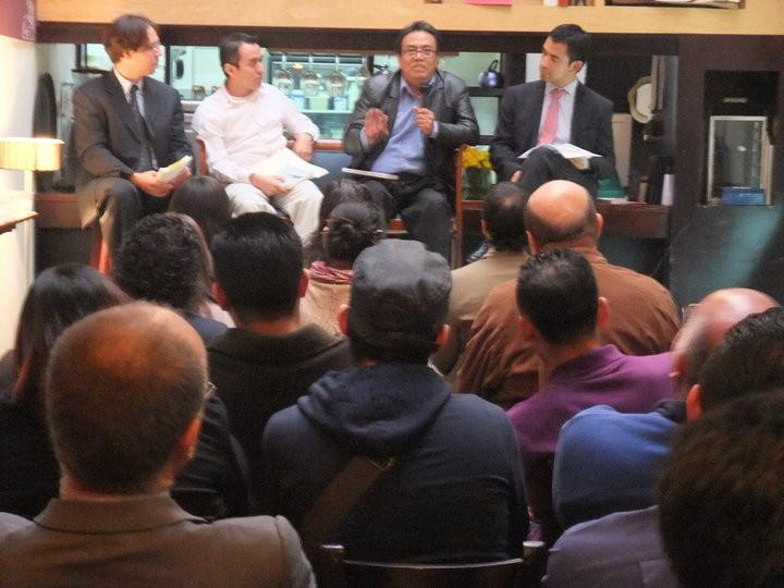 Presentación de libro en Ciudad de México, 2010