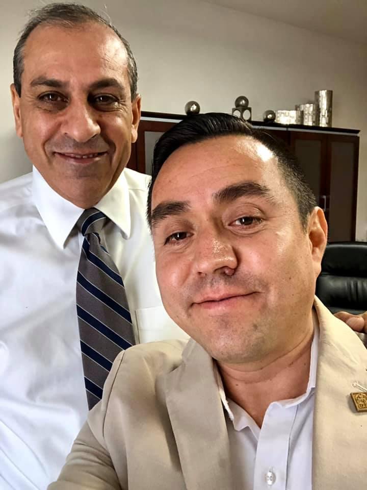 Con mi líder el Rector Juan Camargo, 2019.