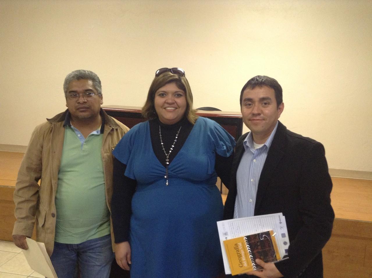 Con el Dr. Vladimir Hernández y la Dra. Rosa María, 2013.