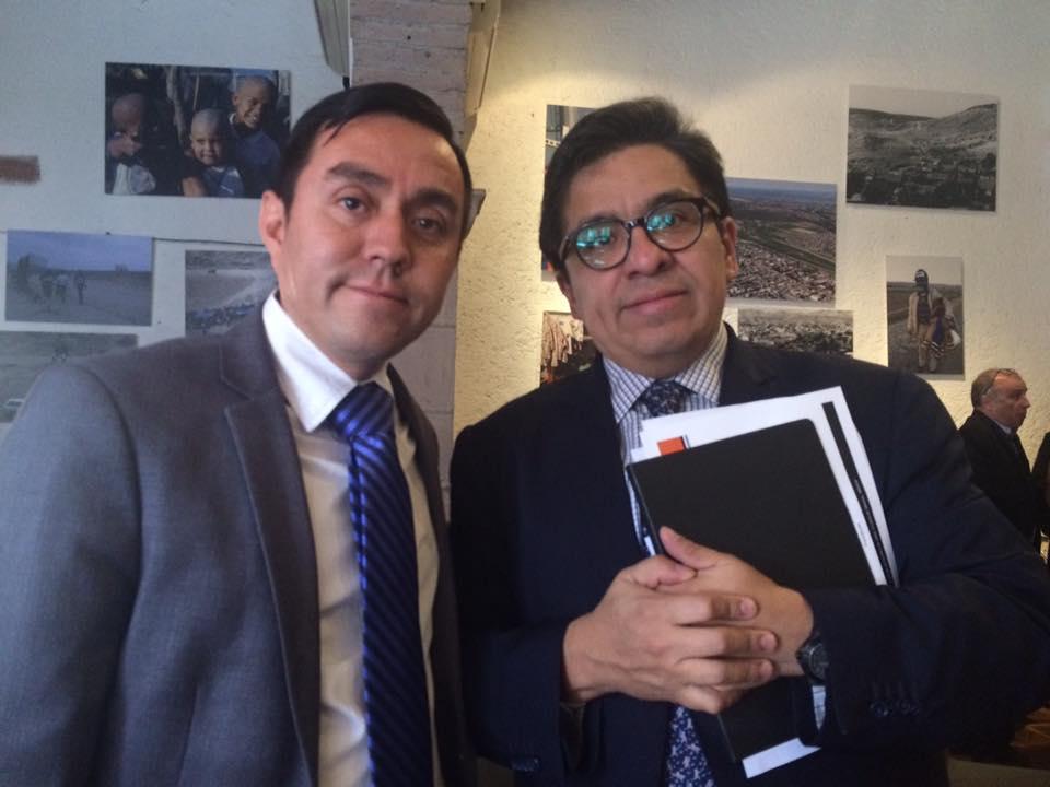 Con Ricardo Ramírez, juez de la OMC, 2016.