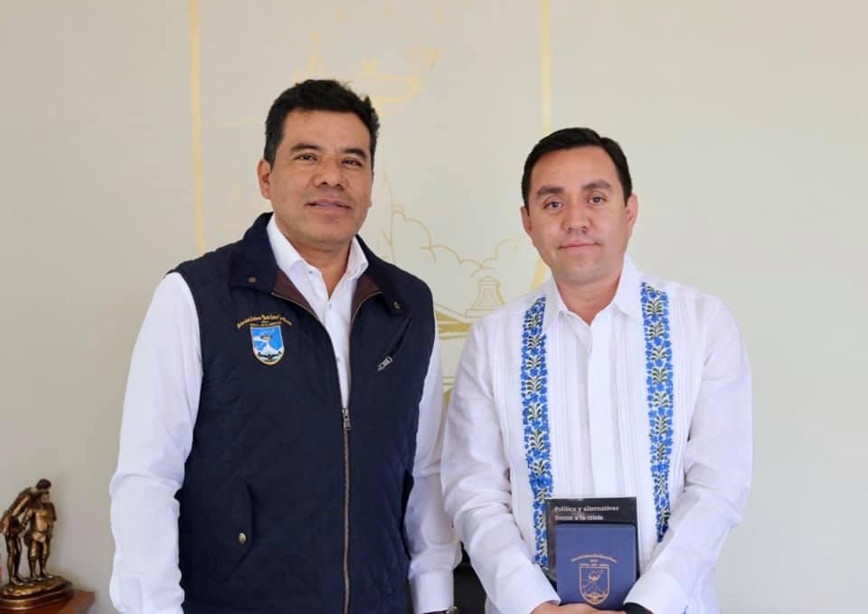 Con el Rector de la Universidad Autónoma de Oaxaca, 2019.