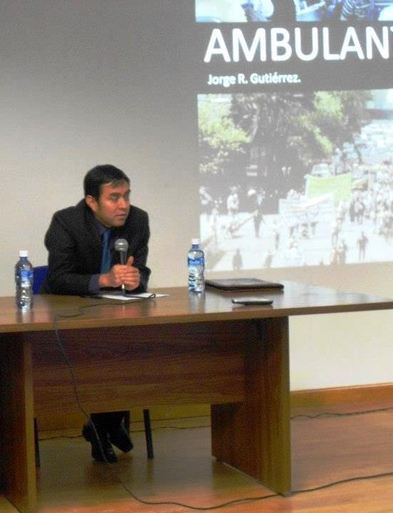 """En la presentación del documental """"Ambulante"""", UACJ-IADA 2013."""