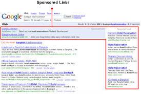 Google adwords advertenties staan boven of rechts van de organische zoekresultaten