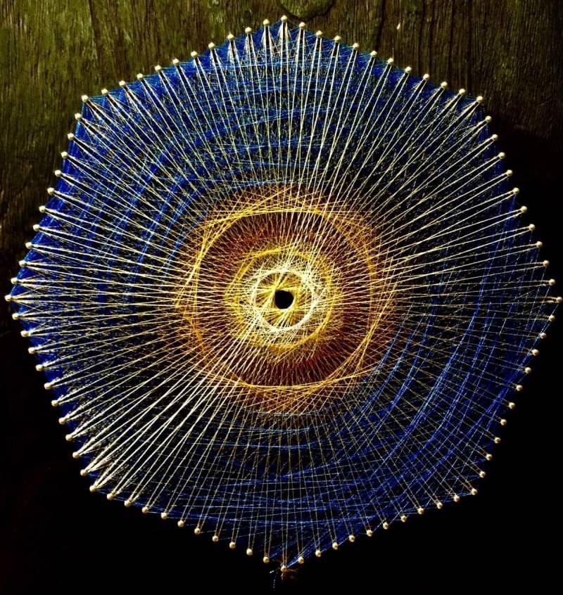 糸かけ曼荼羅の八角形