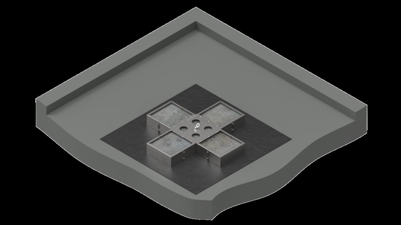 VARIO-45 als Einzelanschlagpunkt auf Folien oder Bitumendach