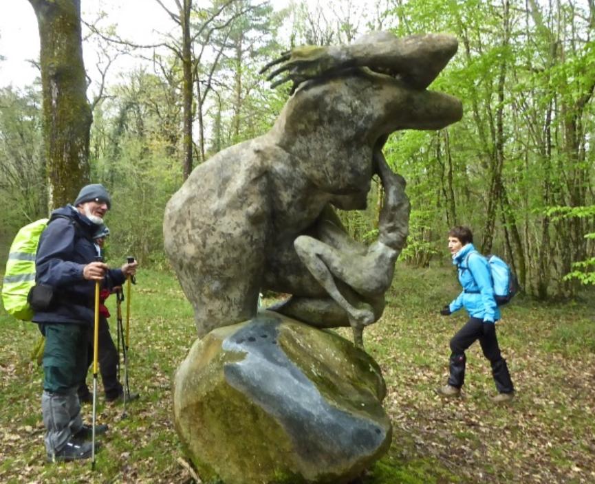 Statue de Lydie Anick à la Thibaudière