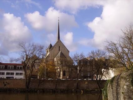 Poitiers, le chevet de l'église Sainte Radegonde
