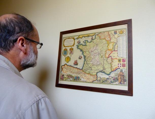 La carte des chemins de Saint Jacques à travers la France.