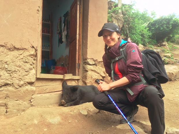 Viele Tiere habe ich auf dem Trail nicht gesehen, aber das schwarze Schwein war ganz okay :)