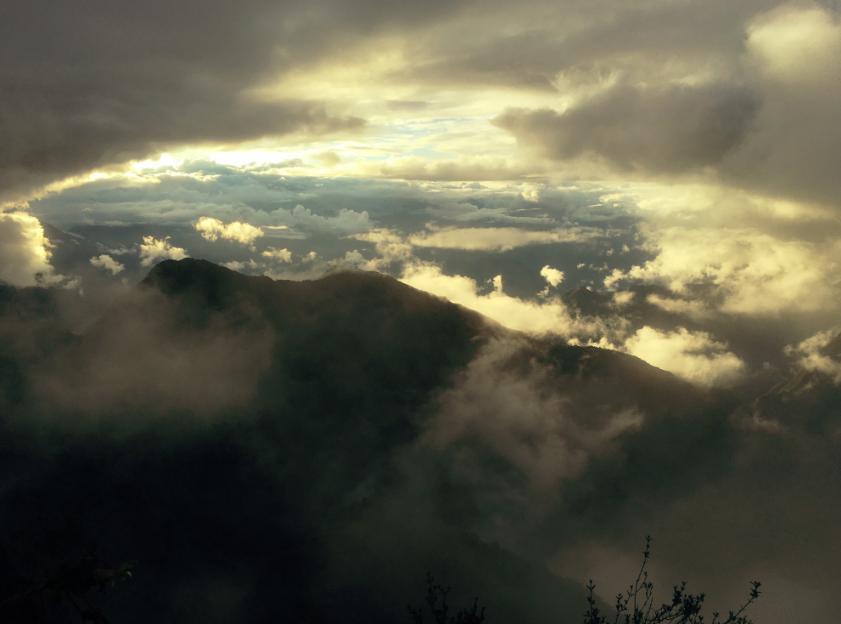 Wow-Aussicht auf die Anden