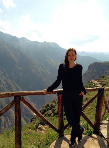 Hier steht ich am Aussichtspunkt im Colca Canyon