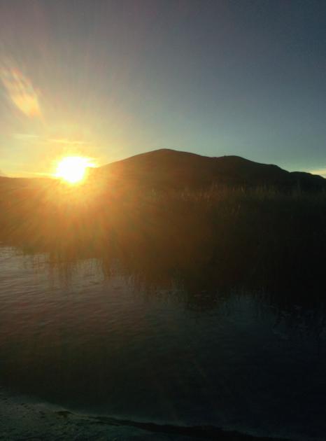 Die Sonnenuntergänge könnten nicht schöner sein