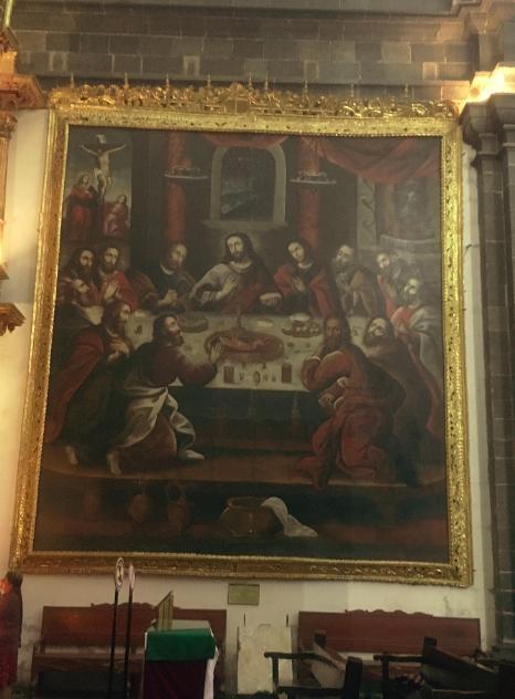 ...das berühmte Gemälde von Zapato mit einem Meerschweinchen zum letzten Abendmahl