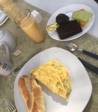 """Im Hotel """"Grace Valley"""" gab es das leckerste selbstgemachte Frühstück der gesamten Reise"""