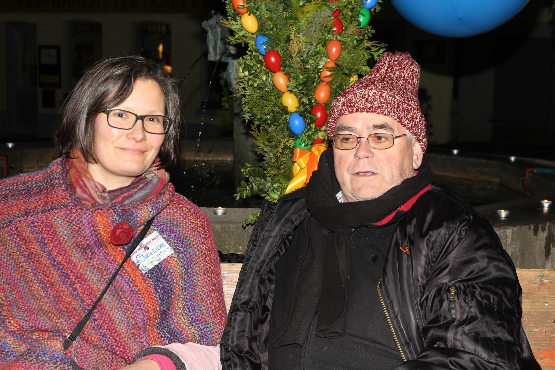 Foto: Rainer Hauenschild: Julia Lilke mit Robert Hafner
