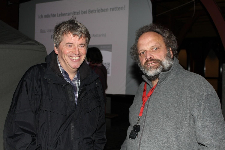 Foto: Rainer Hauenschild: Herr Wagner von der Stad Plochingen mit Theo Schmid