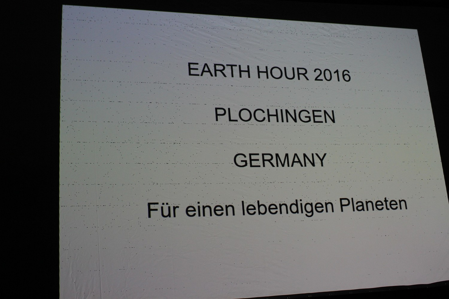Foto: Rainer Hauenschild: Earth Hour 2016 in Plochingen - Für einen lebendigen Planeten!