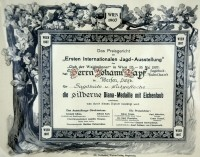 1907 - Silberne Diana-Medaille