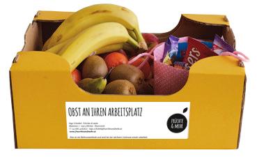Obst-Gemüse-Süßigkeiten-Box