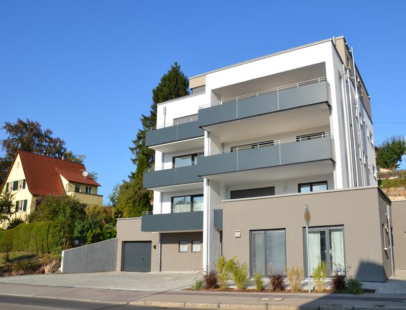 Mehrfamilienhaus Ellwangen Architekten Wetteskind Strassenansicht