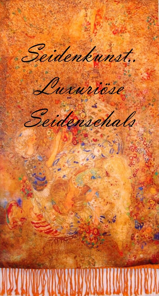 "SEIDENKUNST Seidenschal ""Klimt Inspiration"" http://www.life8style.com/seidenkunst"