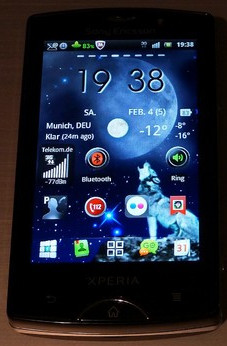 My Home Screen - Android 2.3.3 mit GO Launcher EX
